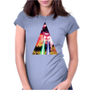 Triangle Cat Design Graph Galaxy Womens Fitted T-Shirt