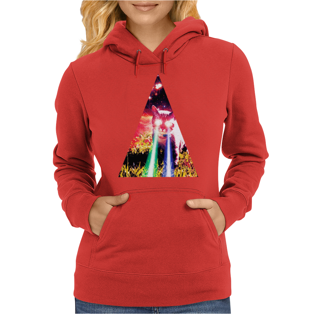 Triangle Cat Design Graph Galaxy Womens Hoodie