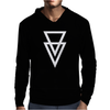 Triangle Graphic Hipster Mens Hoodie