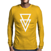 Triangle Graphic Hipster Mens Long Sleeve T-Shirt