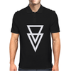 Triangle Graphic Hipster Mens Polo