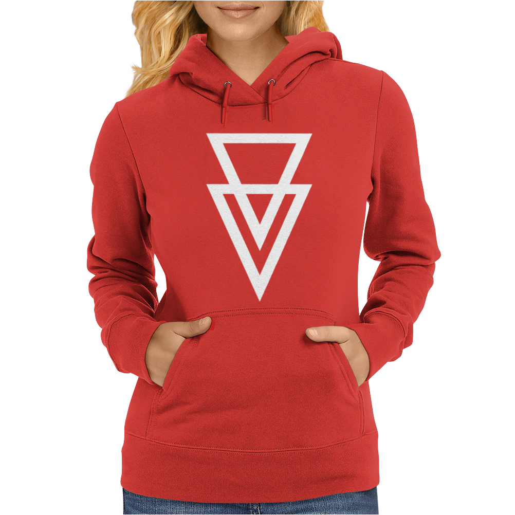 Triangle Graphic Hipster Womens Hoodie