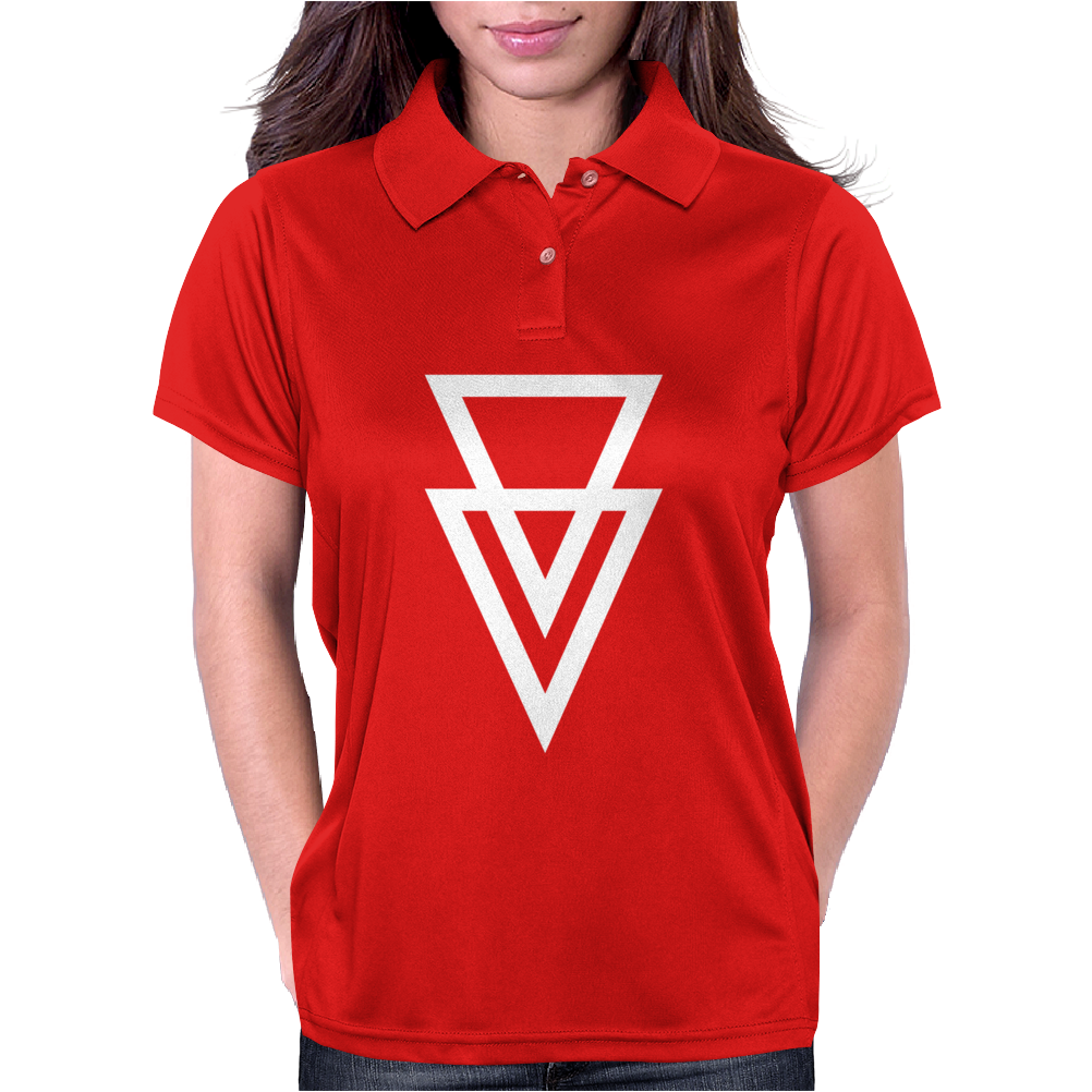 Triangle Graphic Hipster Womens Polo