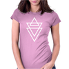 Triangle Printed Womens Fitted T-Shirt