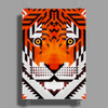 Triangle Tiger Poster Print (Portrait)