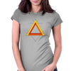 Triangles Womens Fitted T-Shirt