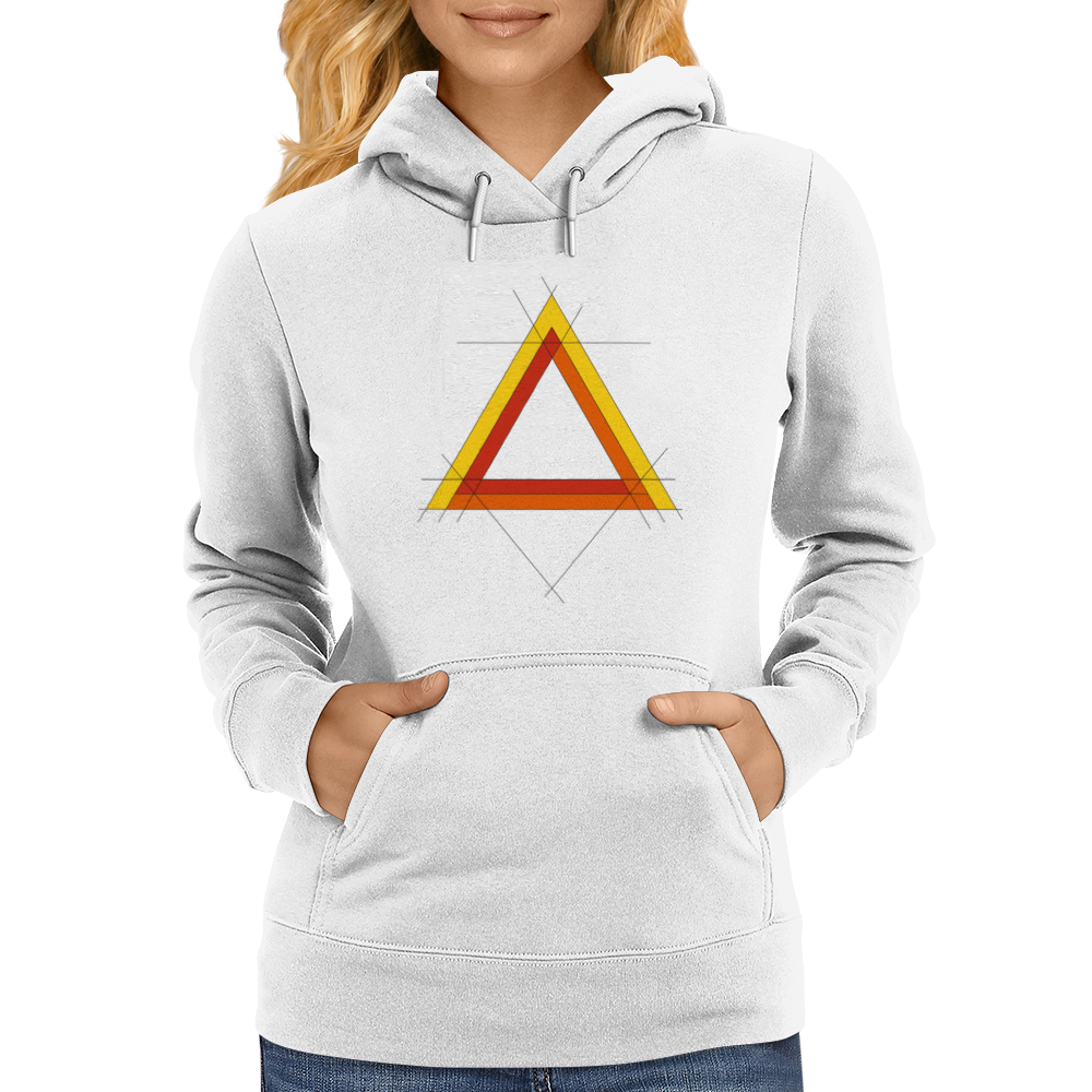 Triangles Womens Hoodie