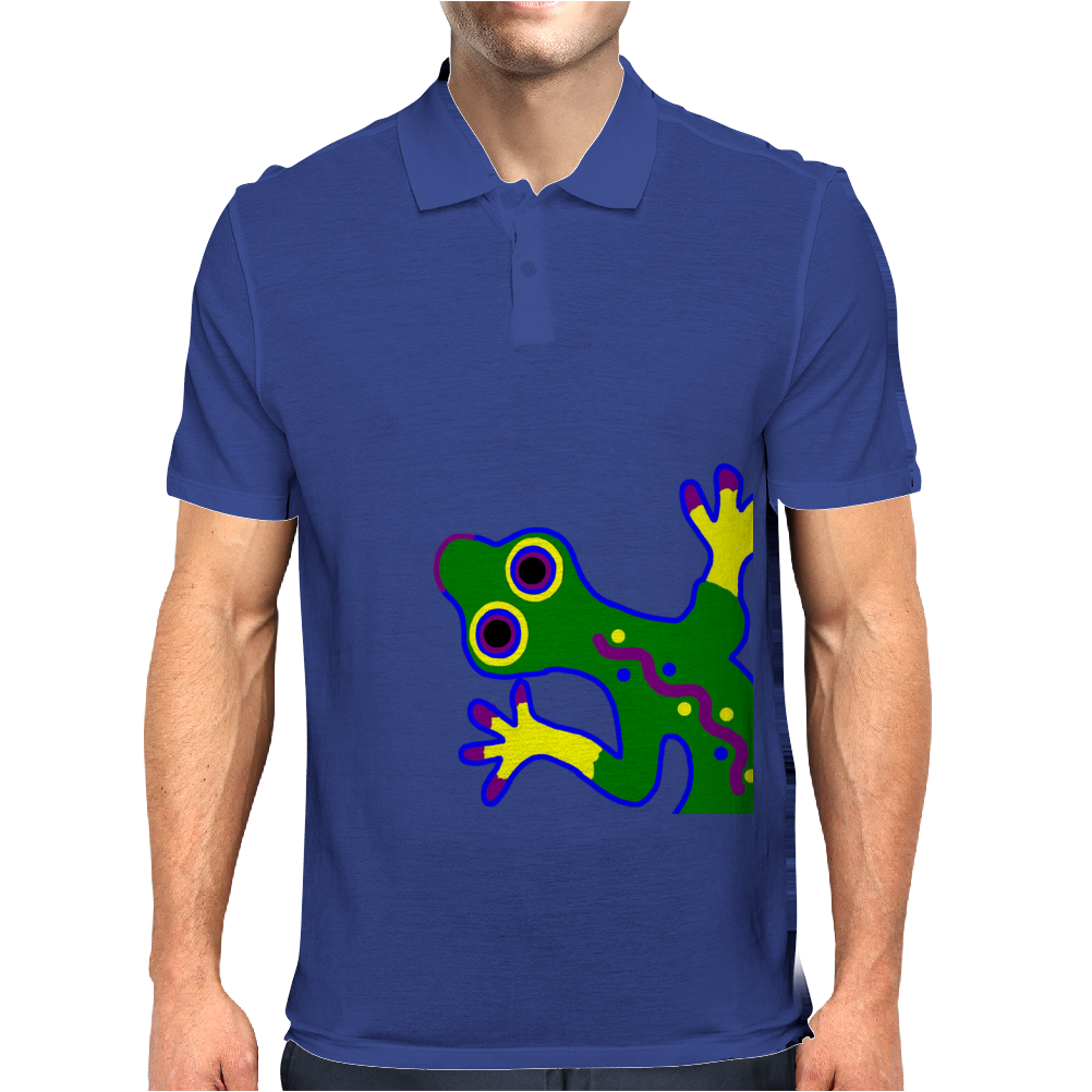 Tribal Gecko Lizard Mens Polo