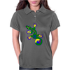 Tribal Gecko Lizard Womens Polo