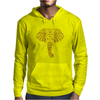 Tribal Print Elephant Geometric Gold Animals Cool Mens Hoodie