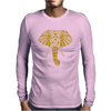 Tribal Print Elephant Geometric Gold Animals Cool Mens Long Sleeve T-Shirt