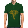 Tribal Print Elephant Geometric Gold Animals Cool Mens Polo