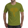 Tribal Print Elephant Geometric Gold Animals Cool Mens T-Shirt