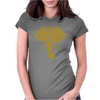 Tribal Print Elephant Geometric Gold Animals Cool Womens Fitted T-Shirt