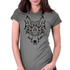 Tribal Wolf Womens Fitted T-Shirt