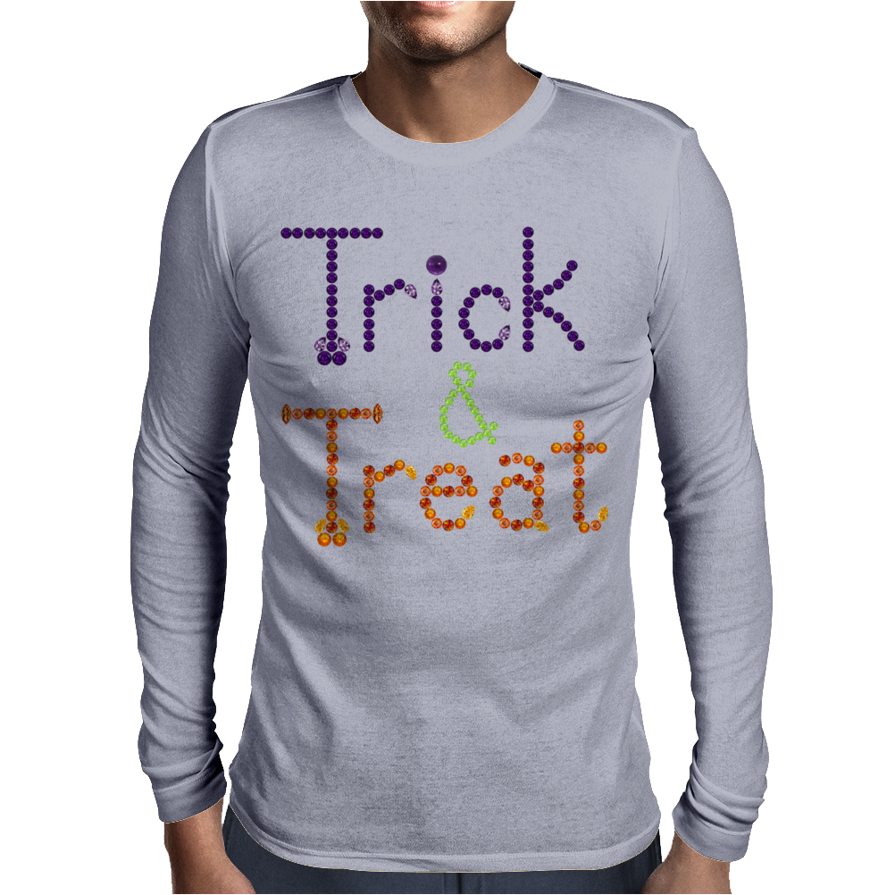 Trick and Treat Mens Long Sleeve T-Shirt