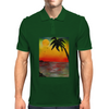 Tropical Sunset Mens Polo