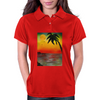 Tropical Sunset Womens Polo