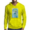 Tropical woman - abstract illustration with beautiful girl, palm trees, hibiscus flowers and bubbles Mens Hoodie
