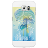 Tropical woman - abstract illustration with beautiful girl, palm trees, hibiscus flowers and bubbles Phone Case