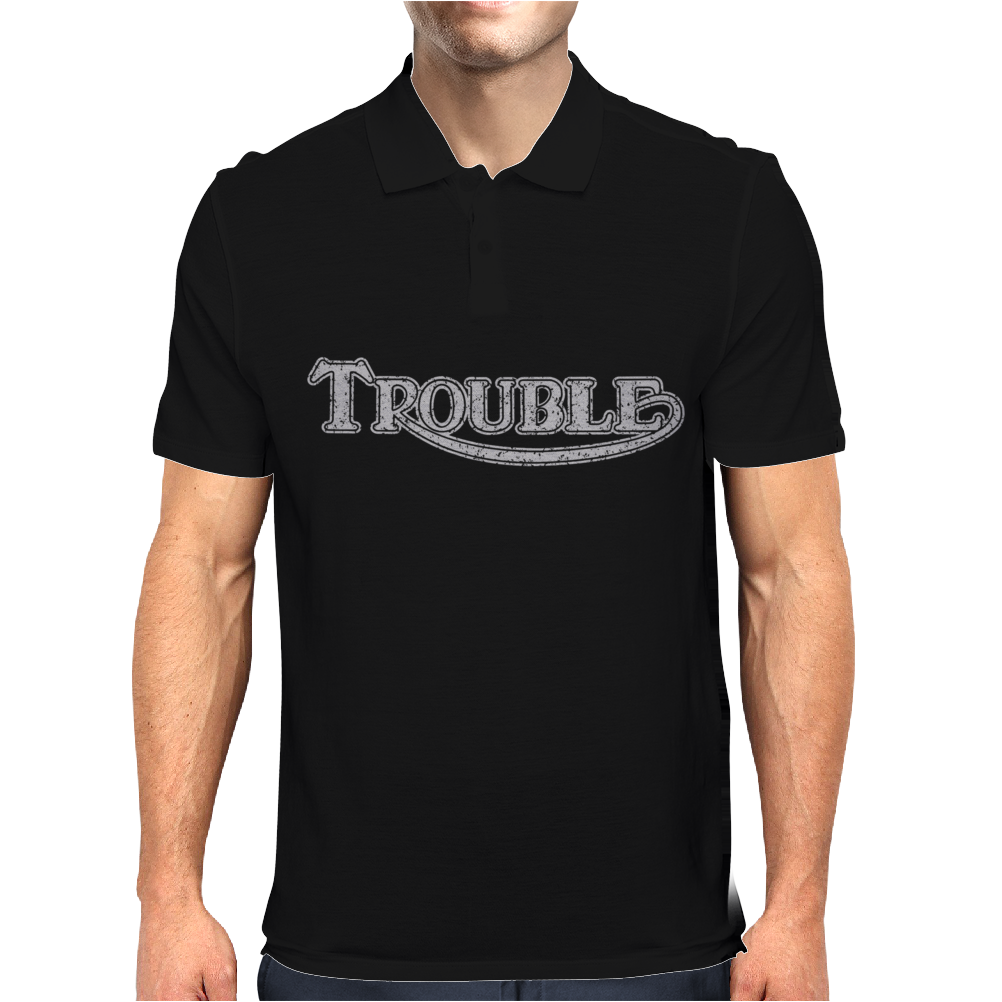 TROUBLE Mens Polo