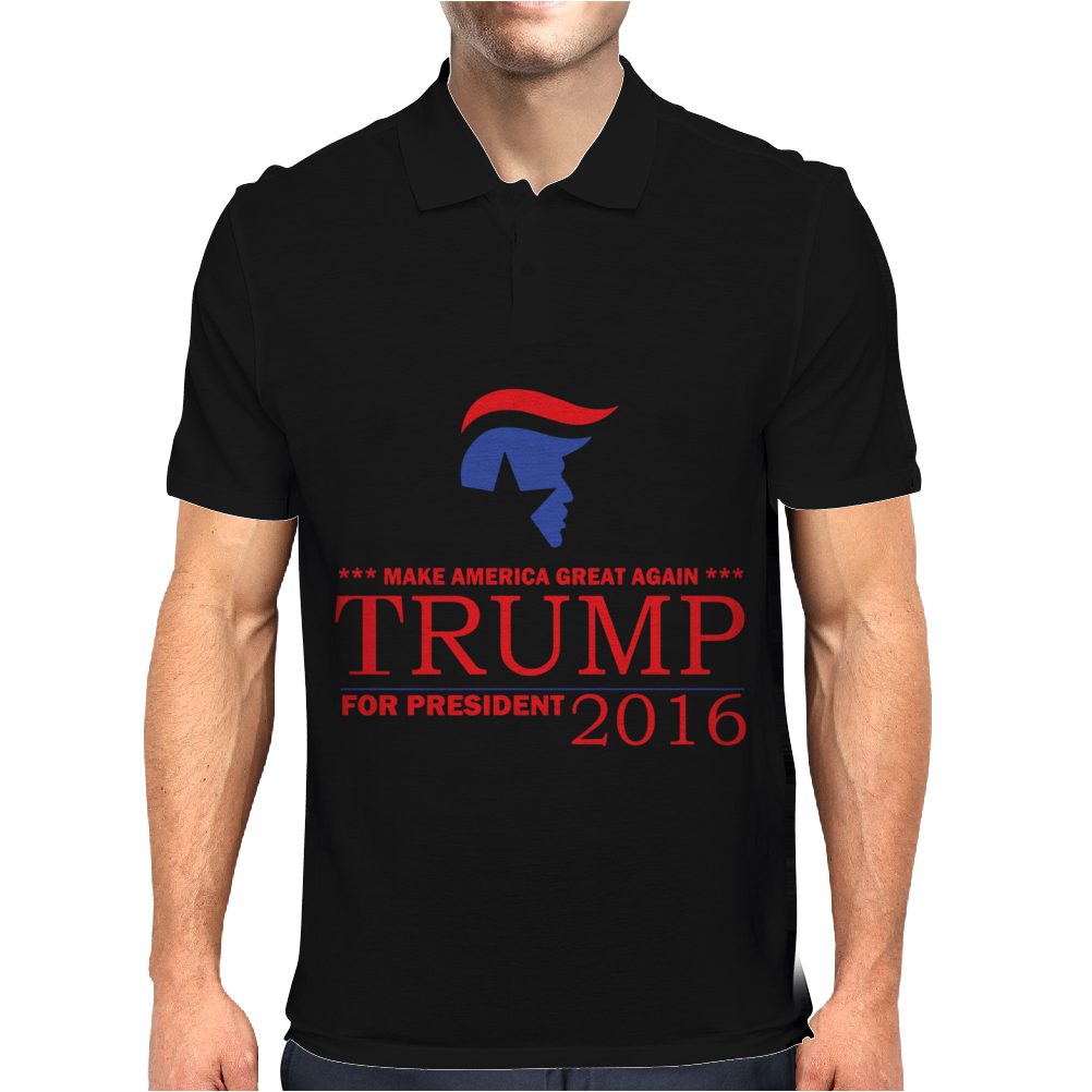 TRUMP for President 2016 Make America Great Again Mens Polo