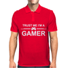 TRUST ME I'M A GAMER FUNNY Mens Polo