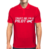 Trust me, I'm a Pilot - captain airplane flight crew plane airport tee Mens Polo