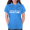 Trust me, I'm a Pilot - captain airplane flight crew plane airport tee Womens Polo
