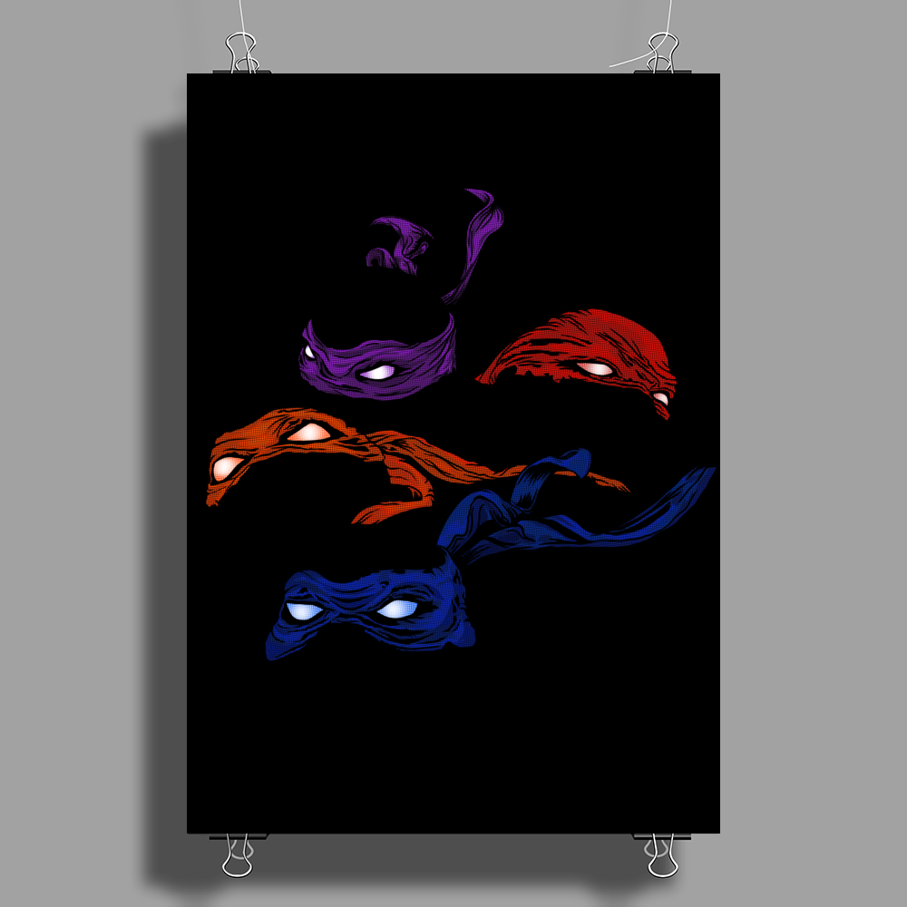 Turtles in a Half Shell Poster Print (Portrait)