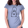 twitchy squirrel art Womens Fitted T-Shirt