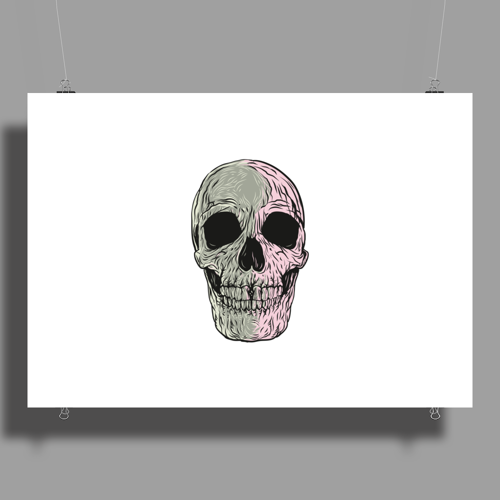 Two Colour Skull Buggery Poster Print (Landscape)