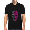Two Coloured Patterned Skull - Mens Funny Mens Polo