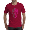 Two Coloured Patterned Skull - Mens Funny Mens T-Shirt