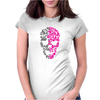 Two Coloured Patterned Skull - Mens Funny Womens Fitted T-Shirt
