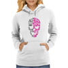 Two Coloured Patterned Skull - Mens Funny Womens Hoodie