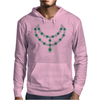 Two Row Emerald Necklace Mens Hoodie