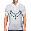 Two Row Emerald Necklace Mens Polo