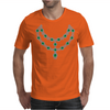Two Row Emerald Necklace Mens T-Shirt