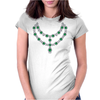 Two Row Emerald Necklace Womens Fitted T-Shirt