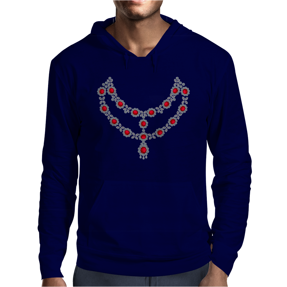 Two Row Ruby Necklace Mens Hoodie