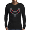 Two Row Ruby Necklace Mens Long Sleeve T-Shirt