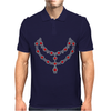 Two Row Ruby Necklace Mens Polo