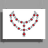 Two Row Ruby Necklace Poster Print (Landscape)