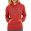 Two Row Ruby Necklace Womens Hoodie