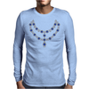 Two Row Sapphire Necklace Mens Long Sleeve T-Shirt