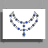 Two Row Sapphire Necklace Poster Print (Landscape)