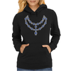 Two Row Sapphire Necklace Womens Hoodie