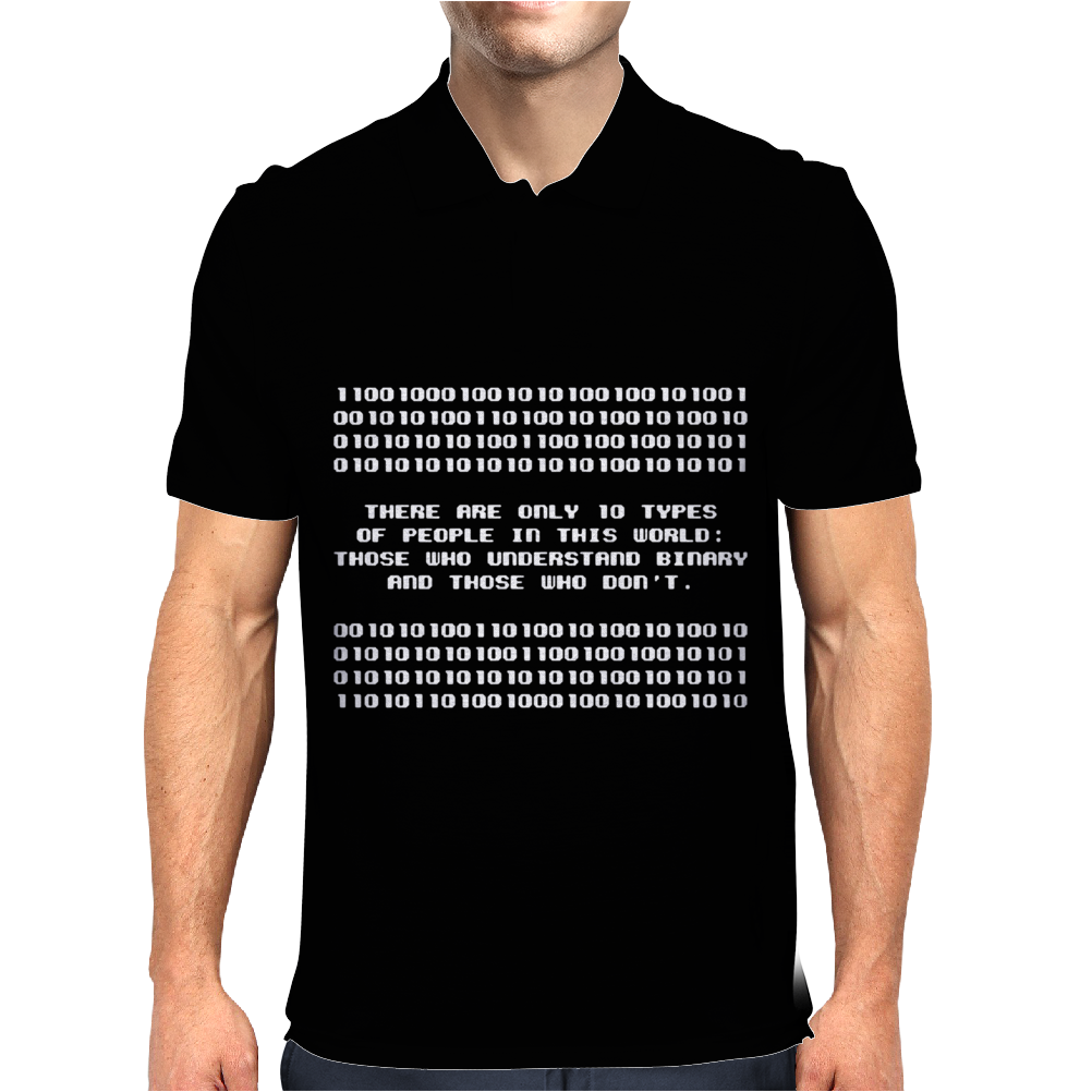 Types Of People Understand Binary Code Mens Polo