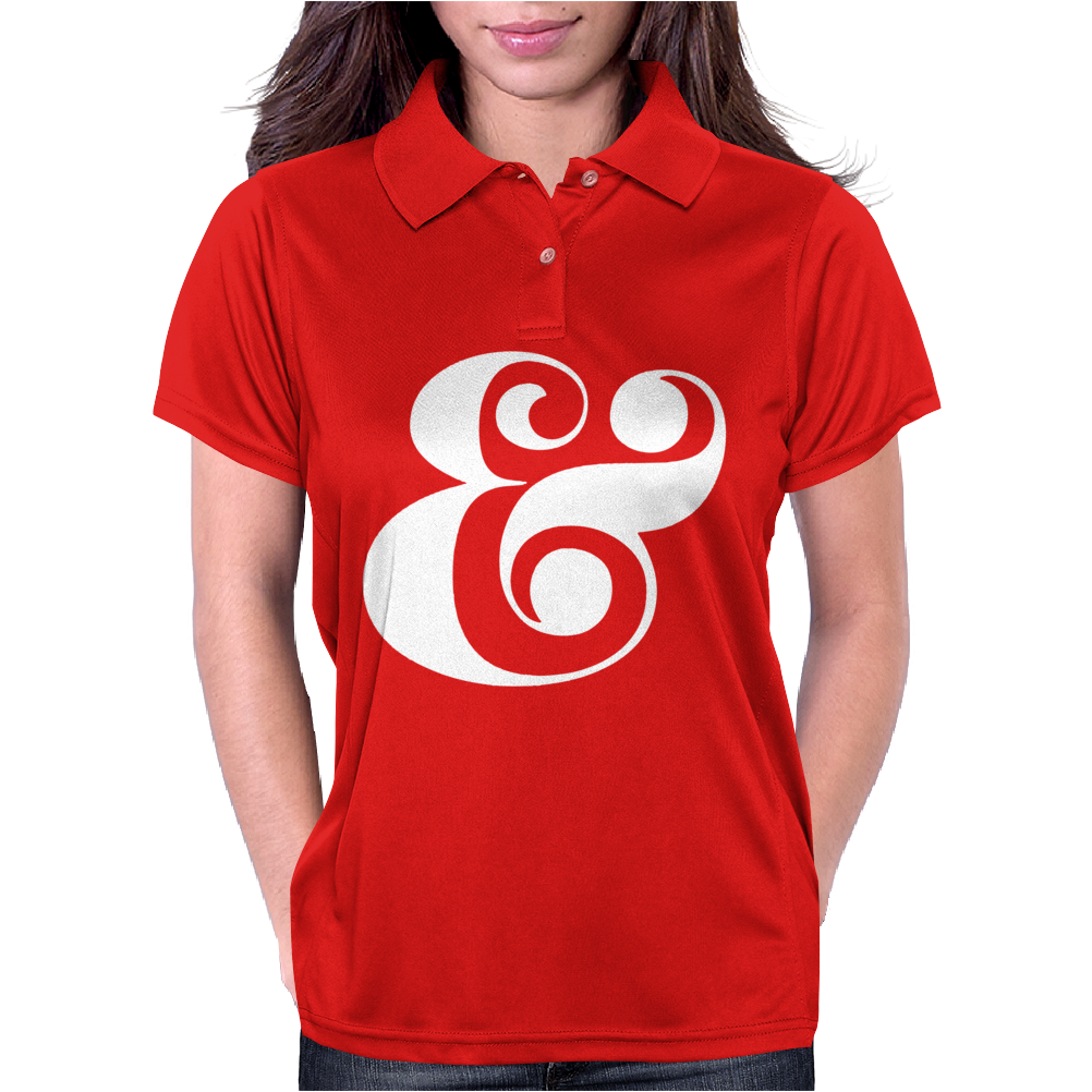 typography Womens Polo